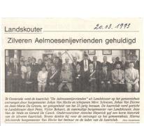 Zilveren jubileum kaartmaatschappij Aelmoesenijevrienden, Oosterzele, 1993
