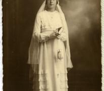 Portret vormsel Alice Dooreman, Sint-Lievens-Houtem, 1933