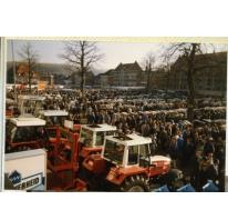 Houtem Jaarmarkt met koeien en landbouwtuigen, Sint-Lievens-Houtem, 1988-1995