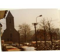 Houtem Jaarmarkt met zicht op kerk, Sint-Lievens-Houtem, datum?