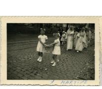 Processie voor OLH. Hemelvaart, Sint-Lievens-Houtem, 1958