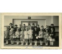 Eerste communie Martine Landuyt, Sint-Lievens-Houtem, 1956