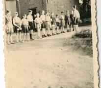 Chiro Melle, vlaggengroet op kamp, Bonheiden, 1945