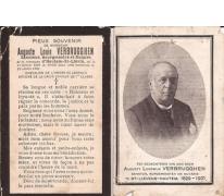 Franstalig Bidprentje Auguste Lodewijk Verbrugghen, Sint-Lievens-Houtem, 1901