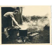 Op kamp bij het houtvuur, Herentals, 1954