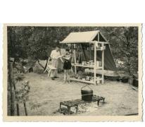 Kookhoek op chirokamp, Neerpelt, 1955