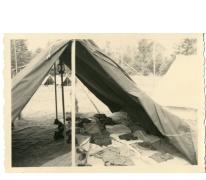 Slaaptent op chirokamp, Neerpelt, 1955