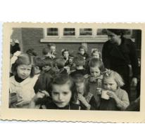 Soepbedeling winterhulp, Sint-Lievens-Houtem, 1943