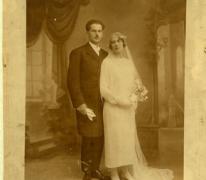 Trouwfoto Prosper en Cornelia, Sint-Lievens-Houtem, 1924