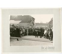 Speech minister op inhuldiging Groenweg, Reigerstraat, Bavegemstraat, Oosterzele, 1965