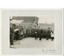 Speech op inhuldiging Groenweg, Reigerstraat, Bavegemstraat, Oosterzele, 1965