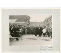 Speech burgemeester inhuldiging Groenweg, Reigerstraat, Bavegemstraat, Oosterzele, 1965