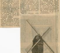 Krantenartikel gerestaureerde Vinkemolen, Oosterzele, 1969