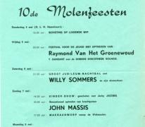 Affiche Molenfeesten, Oosterzele, 1978