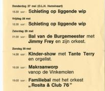 Affiche 8ste Molenfeesten, Oosterzele, 1976