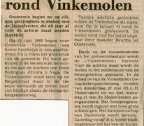 Krantenartikel Molenfeesten, Oosterzele, 1976