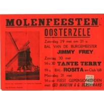 Affiche editie Molenfeesten, Oosterzele, 1976(?)