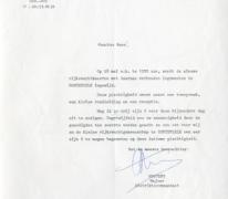 Uitnodiging inhuldiging gebouwen rijkswacht, Oosterzele, 1985