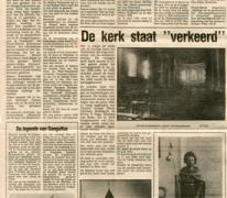 Krantenartikel over 750 jaar parochie Oosterzele, 1980