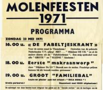 Affiche Molenfeesten, Oosterzele, 1971