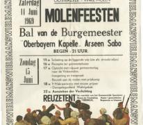Affiche Molenfeesten, Oosterzele, 1969