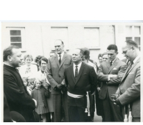 Aanstelling pastoor-deken Reynaert, Oosterzele, 1965