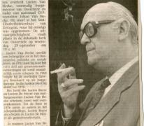 Krantenartikel over de dood van burgemeester Lucien Van Heck, Oosterzele, 1993