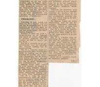 Krantenartikel over de Molenfeesten, Oosterzele, 1969