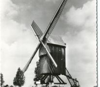 Prentkaart gerestaureerde Vinkemolen, Oosterzele, na 1969