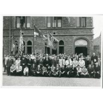 Groepsfoto bakkersbond Sint-Lievens-Houtem, Oosterzele en omstreken, 1971