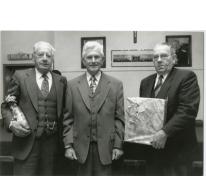 Lucien De Meyer met eerste medewerkers gemeente Oosterzele, 1995