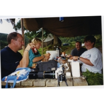 De kookploeg op kamp, La Roche, 2001