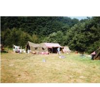 Keukentent op kamp chiro Geertrui, Vresse, 1991