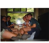 Chiro Geertrui op de trein naar de voorwacht, 1996