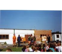 Deel van nieuwe lokalen chiro Geertrui, 1999, Melle