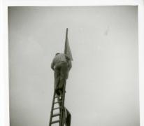 Vlag vastmaken, chiro Geertrui, Louise-Marie, 1960-1970
