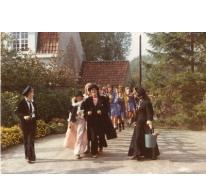 Chiro Geertrui verkleed in een stoet, Melle, 1975-1979
