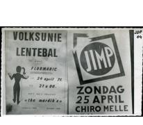 Flyer van Jimpdag en bal, Melle, 1971