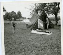 Platte rust op kamp, Louveigné, 1968