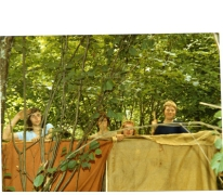 Bouw hudo op kamp, Manderfeld, 1973