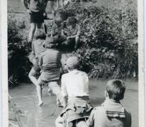 Rakkers chiro Melle steken beek over, Ardennen, 1975-1979