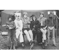 Konijnenspel chiro Melle op kamp, Brisy, 1978