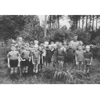 Chiro Melle op klein kamp, Dikkelvenne, 1965
