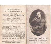 Bidprentje Joseph Van Tittelboom, Montigny Sur Sambre, 1932