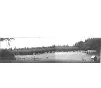 Panoramabeeld kampterrein chiro Melle, Willerzie, 1974