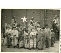 Chiroleden in de driekoningenstoet, Melle, 1950-1956