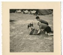 Instructies op chirokamp, jaren 1950