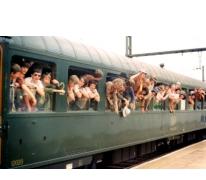 Vertrek met de trein naar Tirol,1977