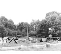 Het kampterrein te Lourdes, Frankrijk, 1979