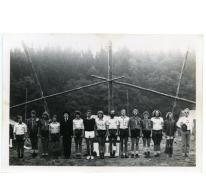 De leiding op kamp in Tenneville, 1979.